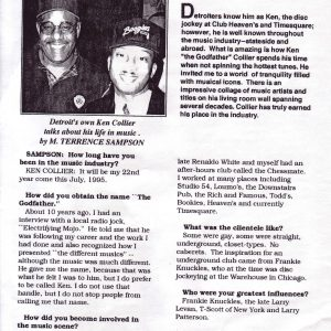 Scan of Kick! magazine interview with Ken Collier.