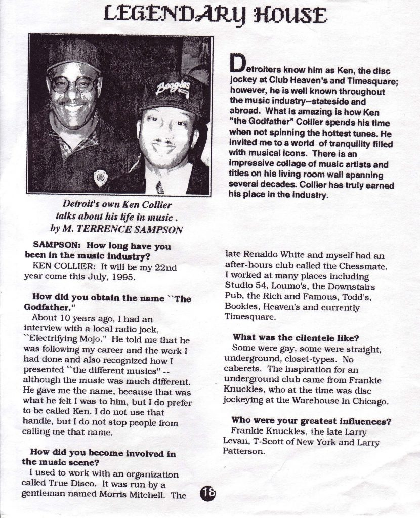 Page one of the two-page interview with Ken Collier in Kick! magazine. Scan by of Tim Retzloff.