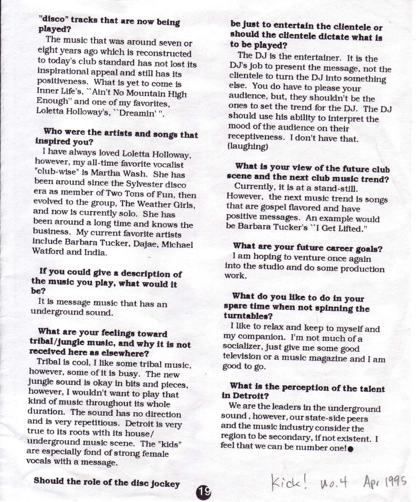 Page two of the two-page interview with Ken Collier in Kick! magazine. Scan by of Tim Retzloff.