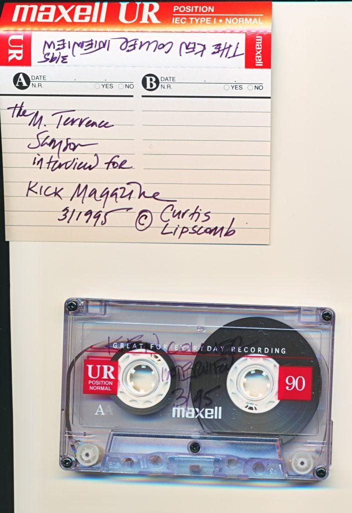 <em>Photo of original tape cassette of interview with Ken Collier by </em>Kick!<em> magazine.</em>