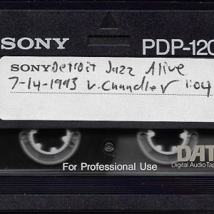 A scan of a SONY PDP-120 digital audio tape or DAT recording of a performance by the Vincent Chandler quintet.